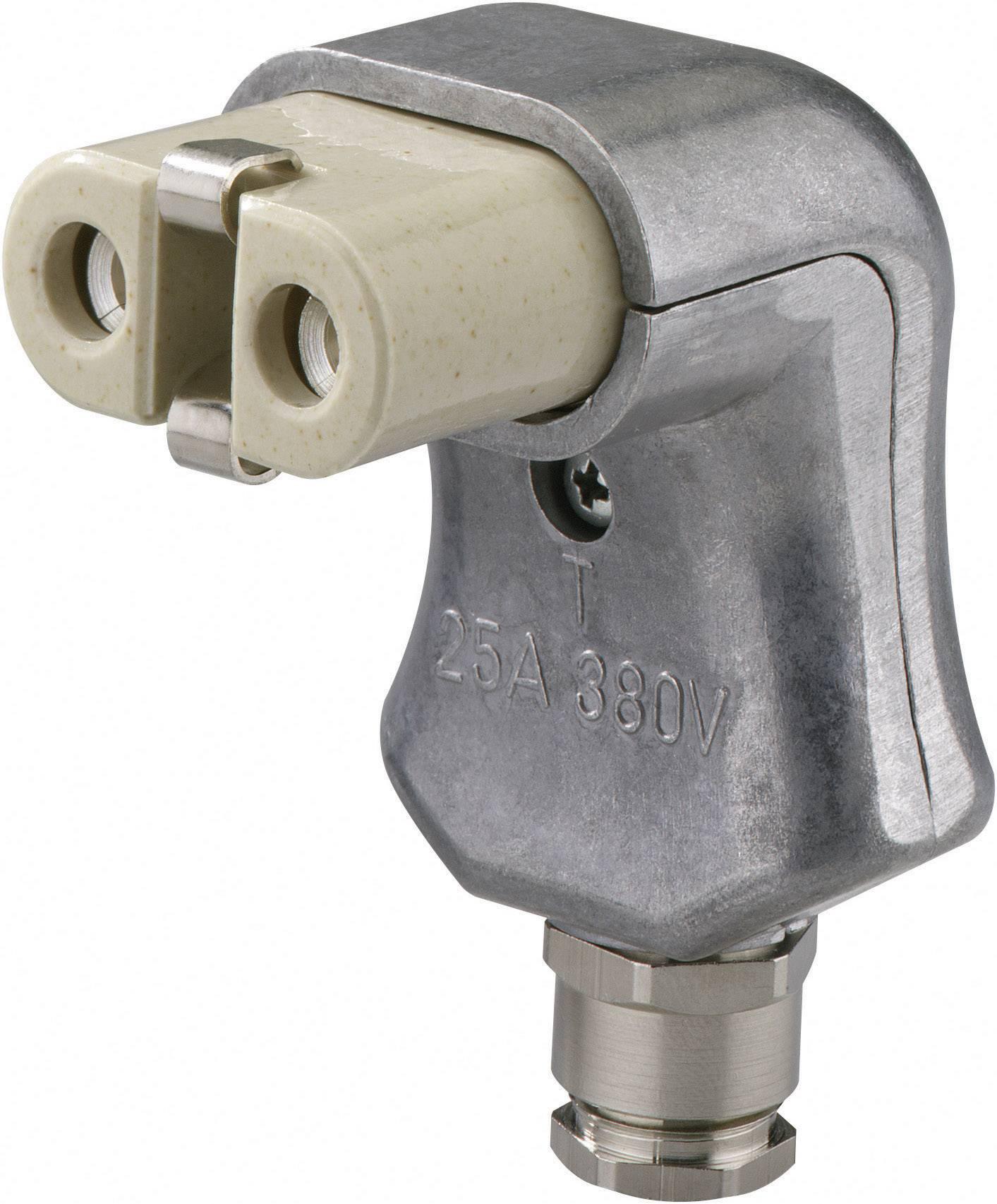 Úlová síťová IEC zásuvka Kalthoff 344K/A/PGWi, 250 V, 16 A, hliník, 840014