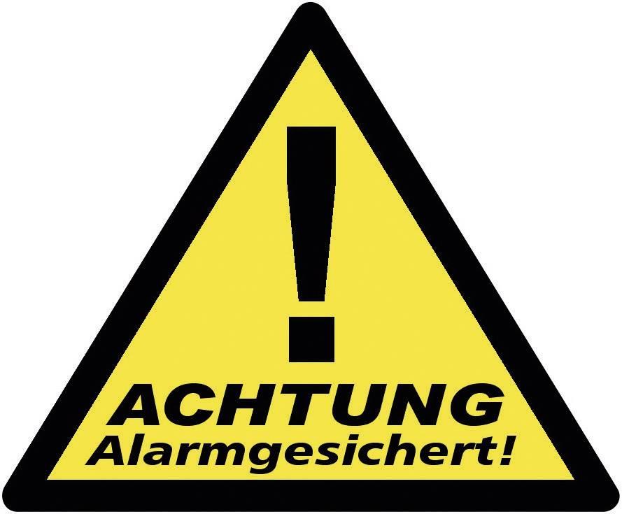 Nálepka Zabezpečeno alarmem 40201, výstražný trojúhelník, sada 3 ks