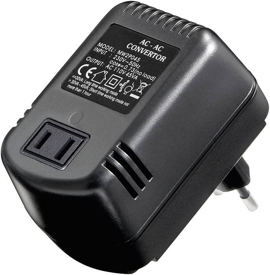 Menič napätia Goobay SPW MW 2P045, AC/AC 230 -> 110 V
