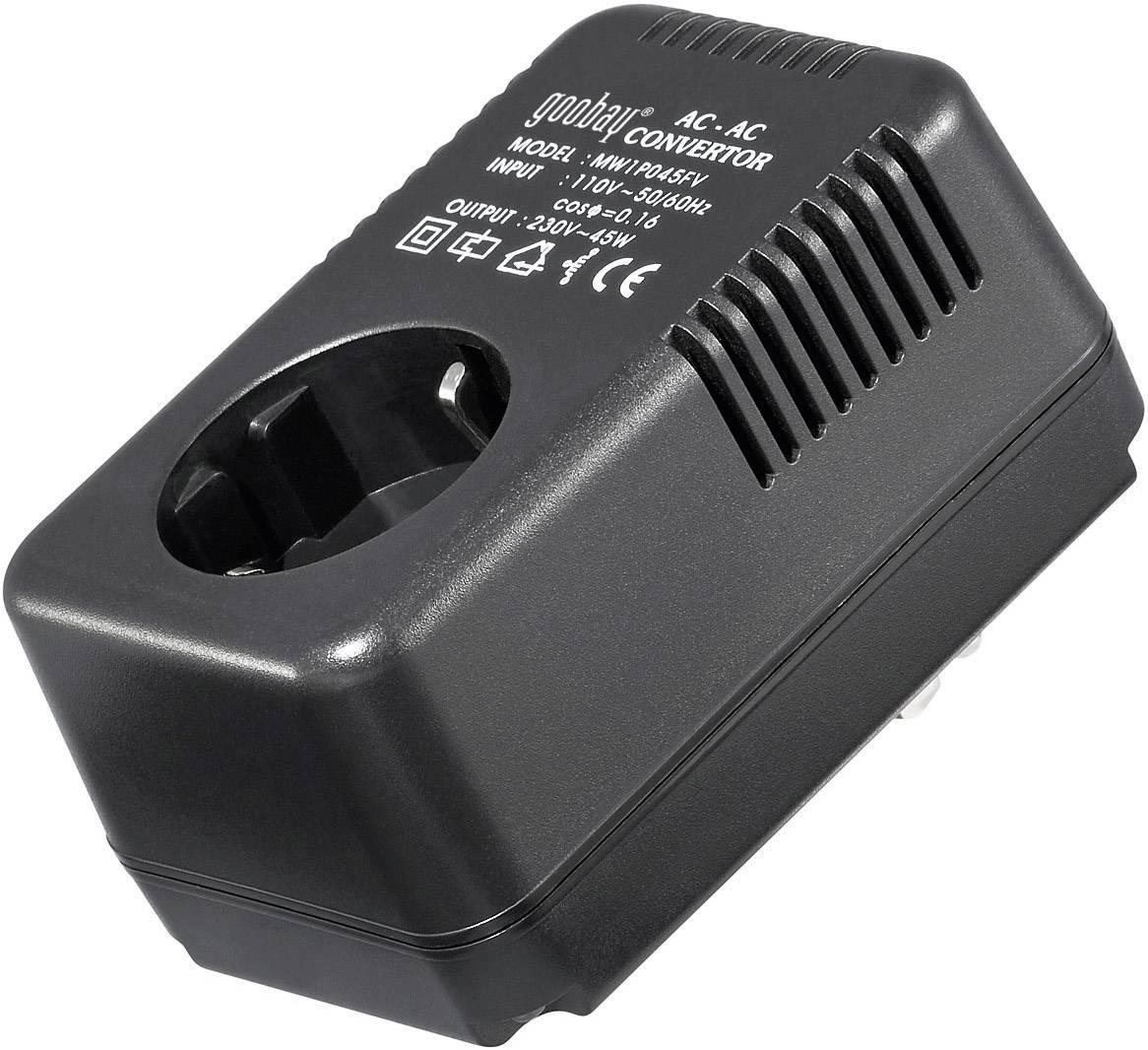 Měnič napětí Goobay SPW MW 1P045FV, AC/AC 110 -> 230 V