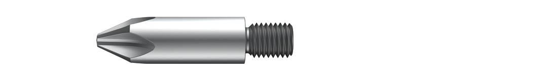 Krížový bit Wiha Threaded bit 7331 Z 04677, 45 mm, chróm-vanadiová oceľ, tvrdené, 1 ks
