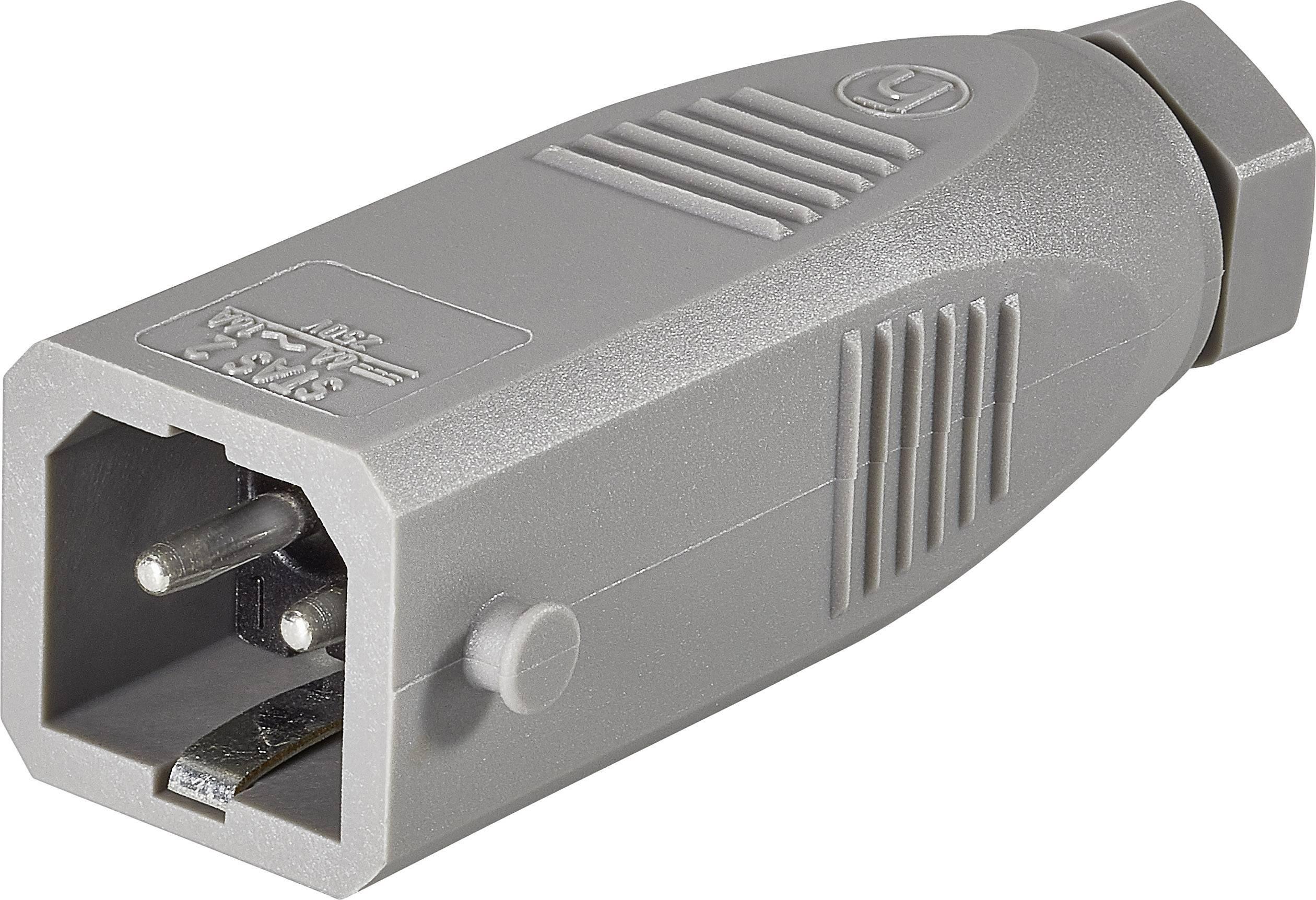 Síťová zástrčka Belden STAS 2, 250 V, 16 A, šedá, 930620106