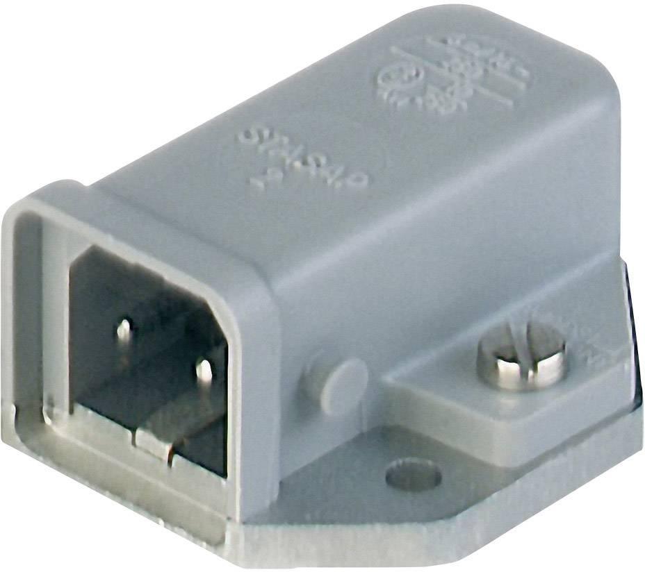 Sieťový konektor Hirschmann STASAP 2 B, zástrčka, vstaviteľná horizontálna, počet kontaktov: 2 + PE, 16 A, 250 V, sivá, 1 ks