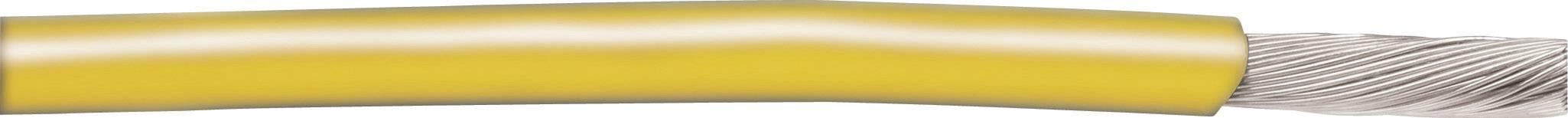 Pletenica EcoWire 1 x 3.31 mm, rumena AlphaWire 6718 30.5 m