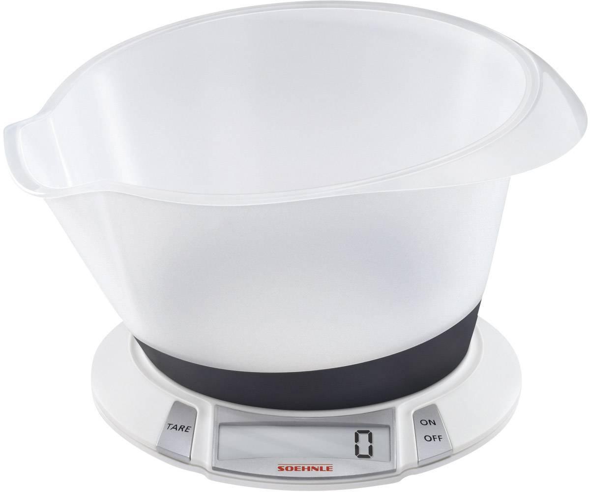 Digitálna, s odmernou misou digitálna kuchynská váha Soehnle Olympia Plus, biela
