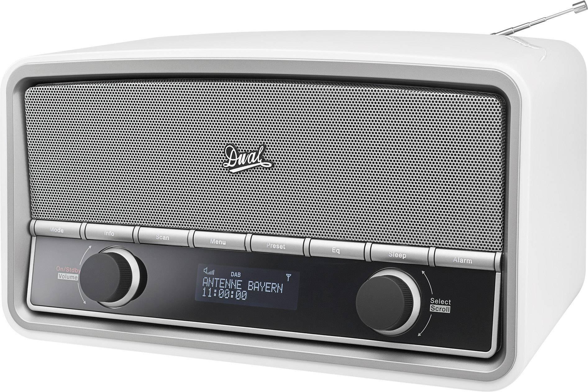 DAB+ a FM retro rádio Dual NR 5, s diaľk.ovládačom, biele