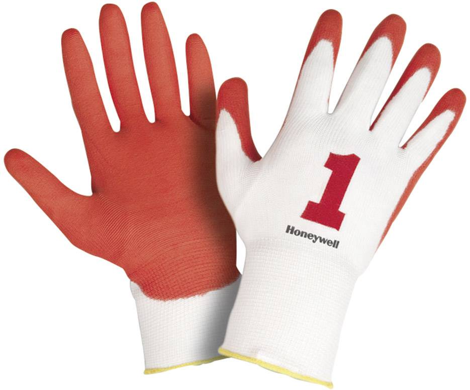 Pracovné rukavice Honeywell Check & Go Red PU 1 2332255, velikost rukavic: 7, S