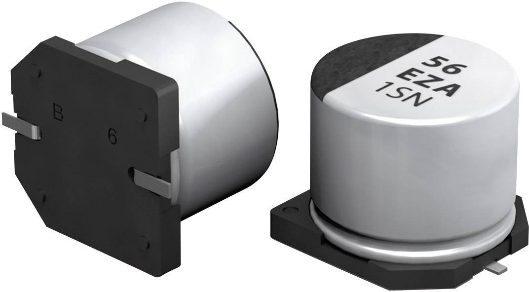 SMT kondenzátor elektrolytický Panasonic polymer EEHZA1H220P, 22 µF, 50 V, 20 %, 5,8 x 6,3 mm