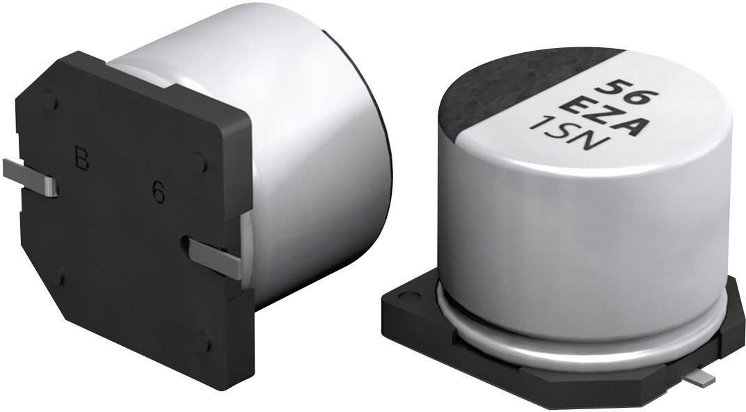 SMT kondenzátor elektrolytický Panasonic polymer EEHZA1J100P, 10 µF, 63 V, 20 %, 5,8 x 6,3 mm