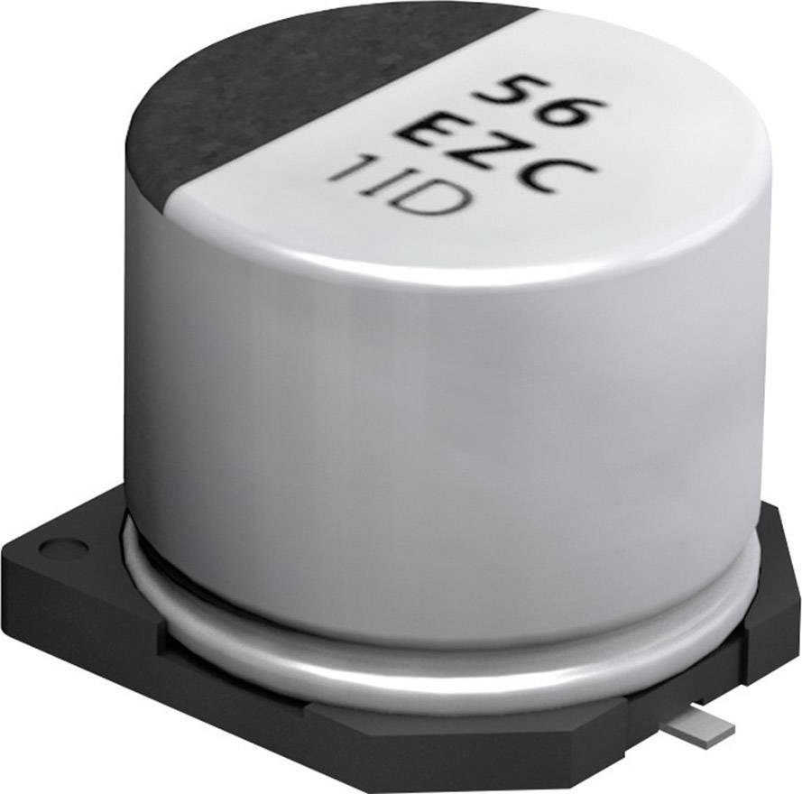 SMT kondenzátor elektrolytický Panasonic EEHZC1J100P, 10 mF, 63 V, 20 %, 5,8 x 6,3 mm