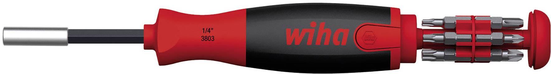 """Magnetický bitový skrutkovač Wiha 38601, vrátane 12 bitov, 1/4"""" (6,3 mm)"""
