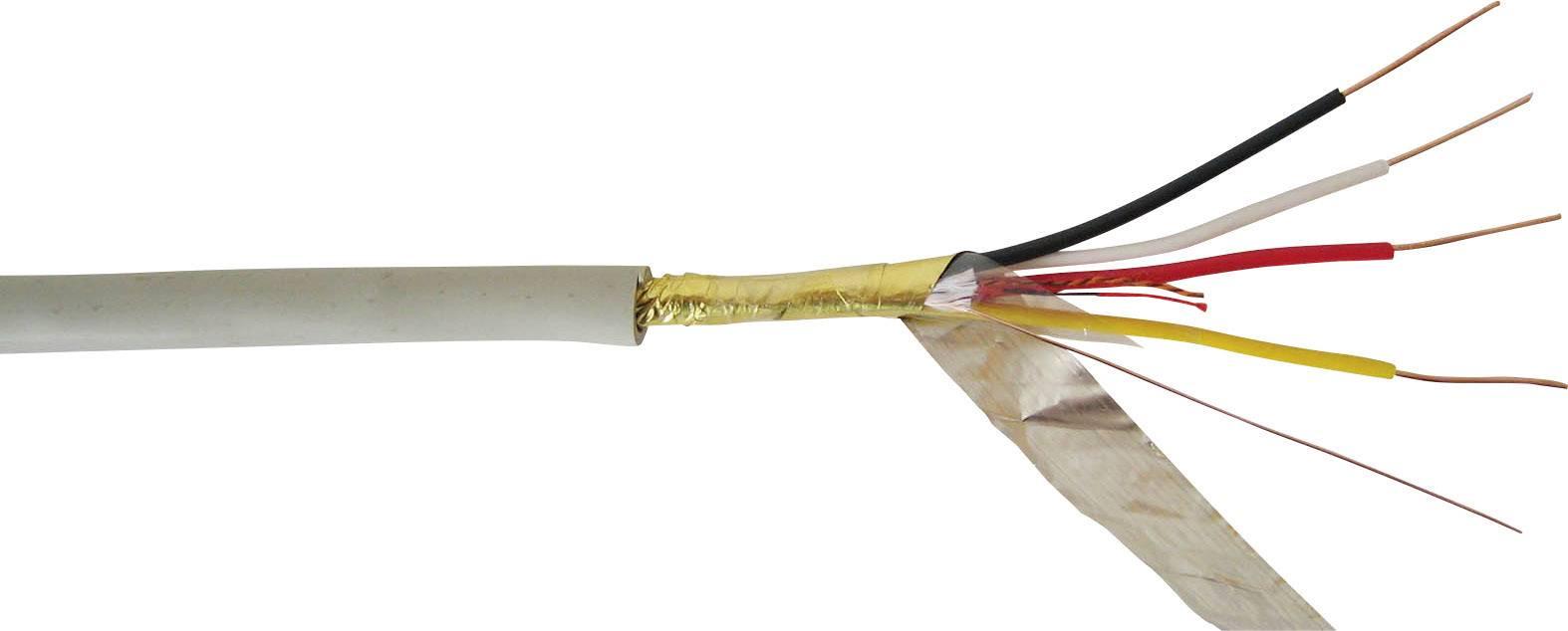 Telefonní kabel J-Y(ST)Y VOKA Kabelwerk 100800-00, 2 x 2 x 0.60 mm, křemenová šedá (RAL 7032), metrové zboží