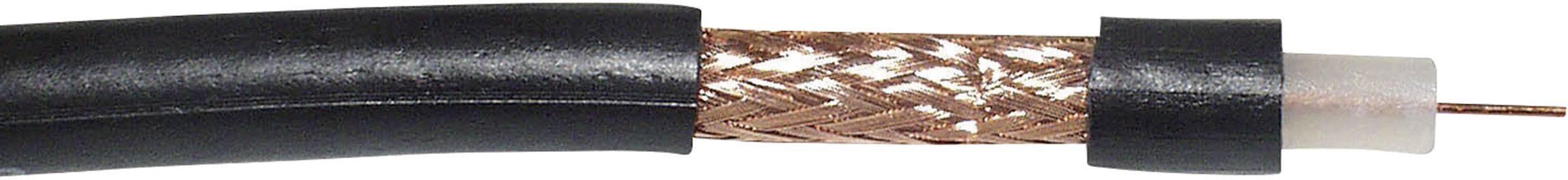 Koaxiální kabel VOKA Kabelwerk RG59 B/U, 300905-01, 75 Ohm, černá, metrové zboží