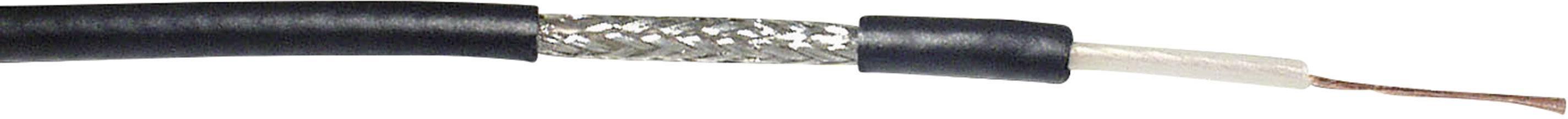 Koaxiální kabel VOKA Kabelwerk RG174 A/U, 304660-87, 50 Ohm, černá, metrové zboží