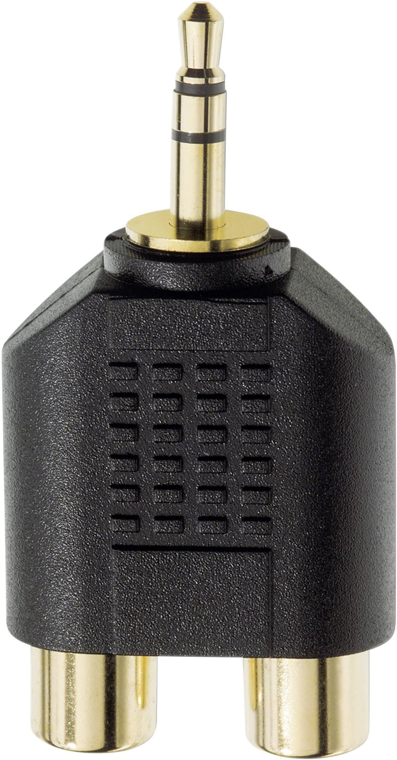 Jack / cinch audio Y adaptér Inakustik 0081381, čierna
