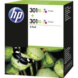 HP Inkoustová kazeta 301XL originál Dual azurová, purppurová, žlutá D8J46AE