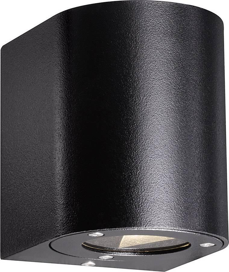 LEDvonkajšie nástennéosvetlenie 10 W teplá biela Nordlux Canto 77571003 čierna