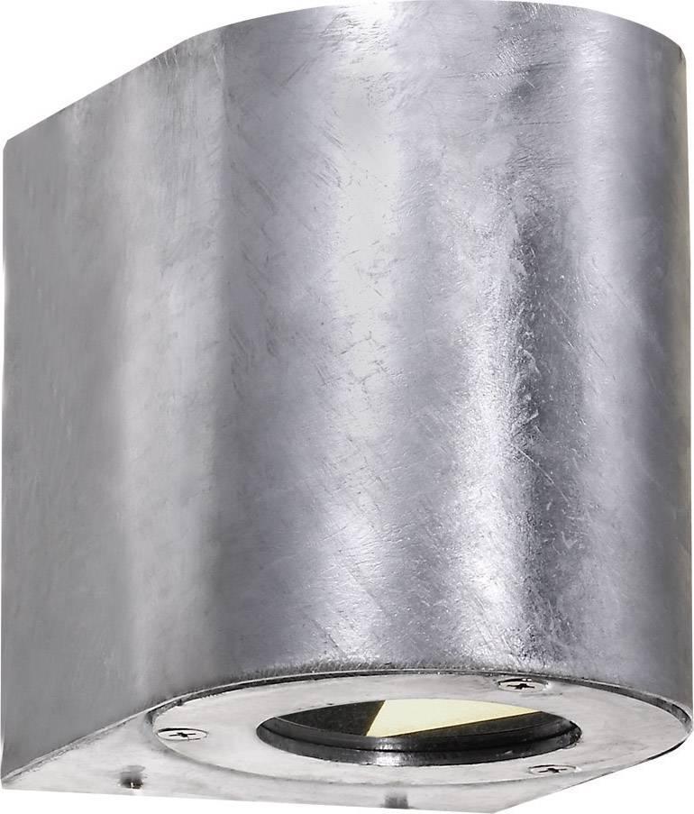 LEDvonkajšie nástennéosvetlenie 10 W teplá biela Nordlux Canto 77571031 pozinkovaný