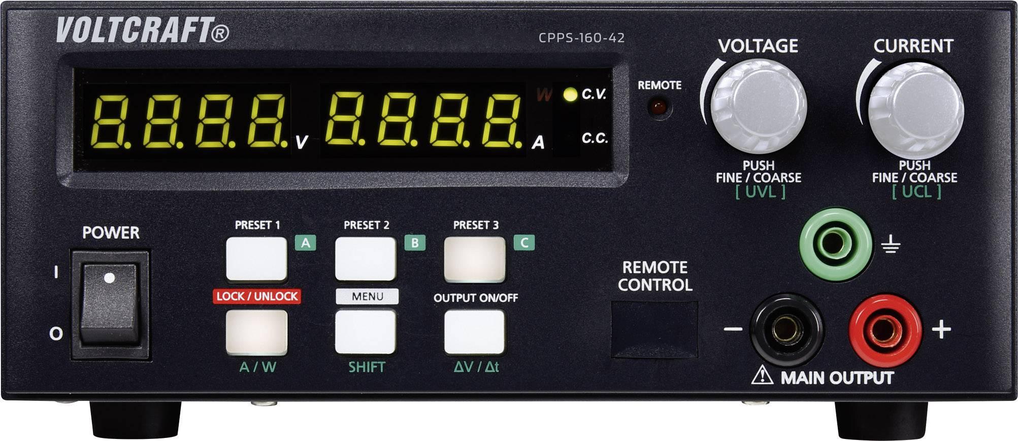 Laboratórny zdroj VOLTCRAFT CPPS-160-42, 0.02 - 42 V/DC, 0.01 - 10 A, USB