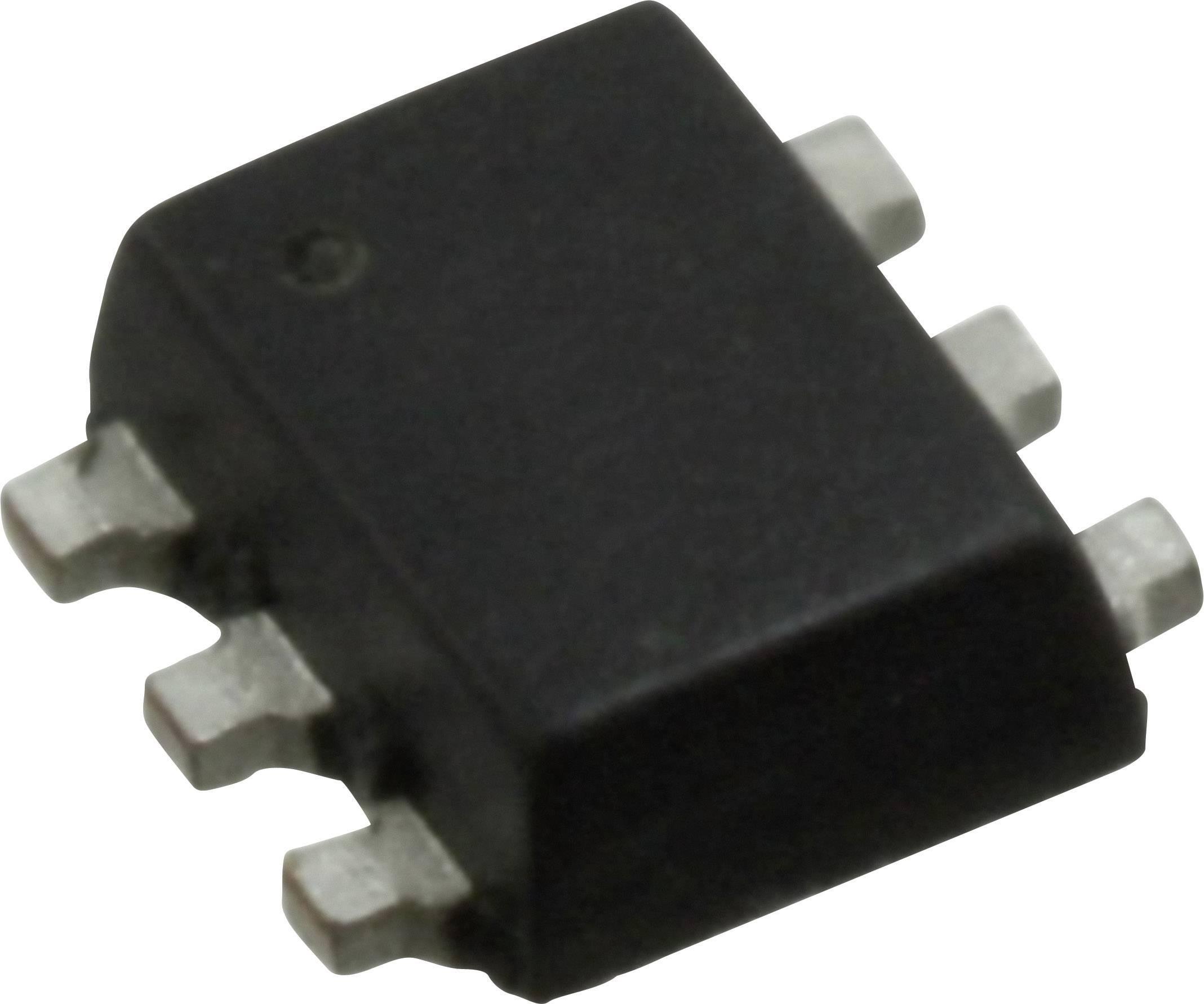 Tranzistor MOSFET Nexperia NX1029X,115, 1 N-kanál, P-kanál, 500 mW, SOT-666