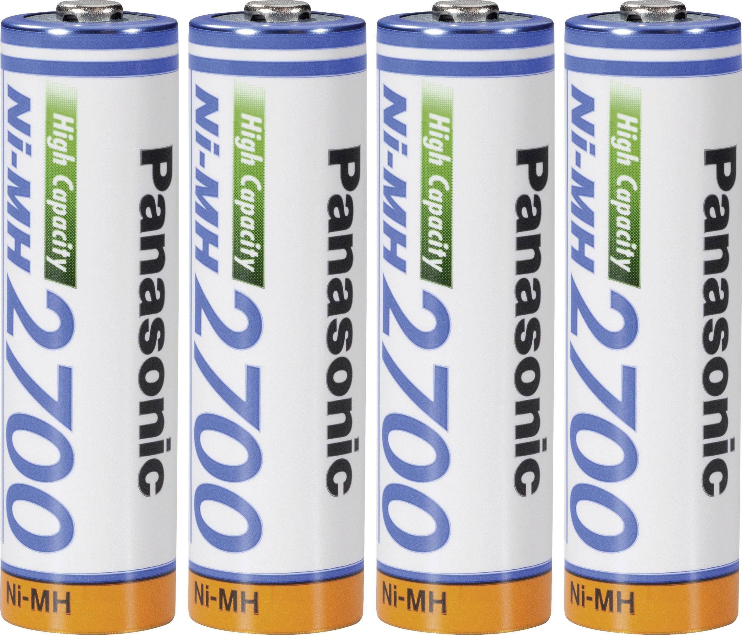 Akumulátory NiMH AA Panasonic, 2700 mAh, 4 ks