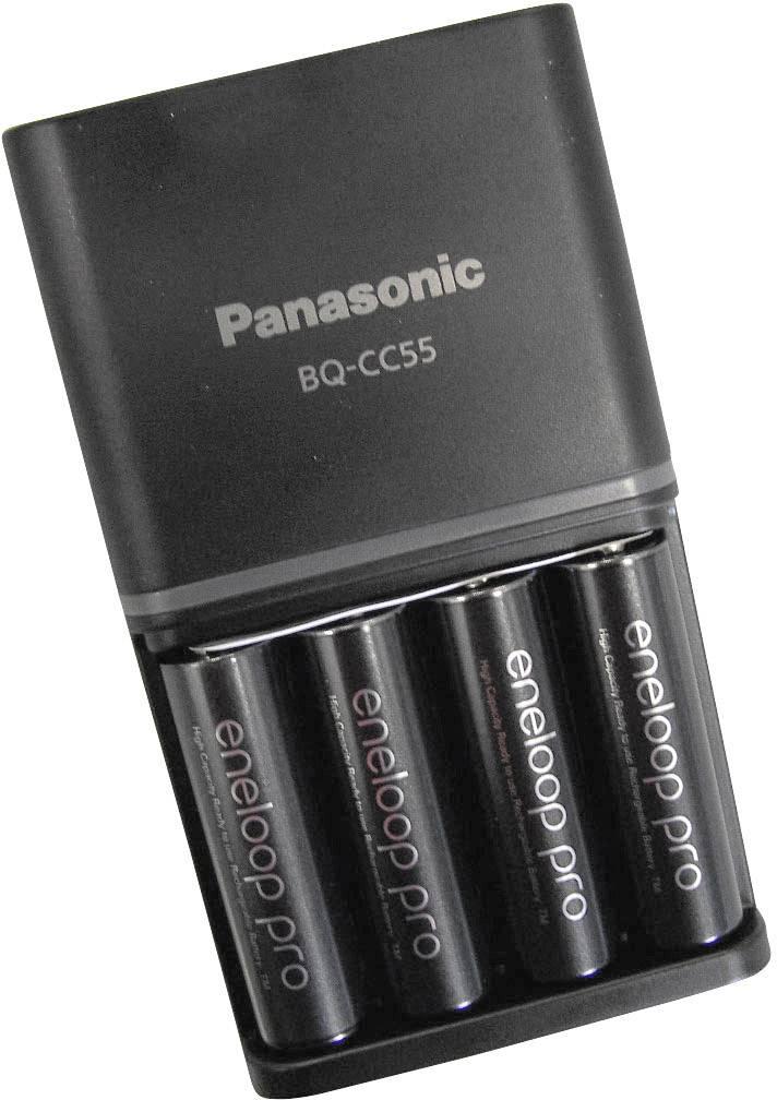 Nabíječka Panasonic BQ-CC16, K-KJ16HCC40E + 4x eneloop pro AA 2450 mAh