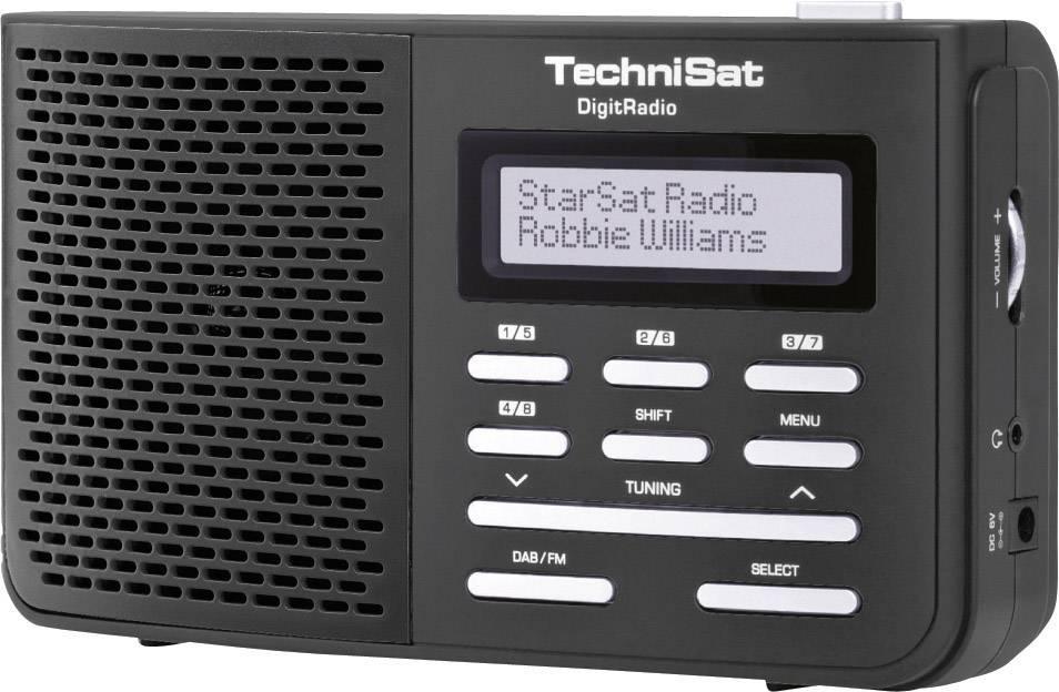 DAB+, FM prenosné rádio TechniSat DigitRadio 210, DAB+, UKW, čierna
