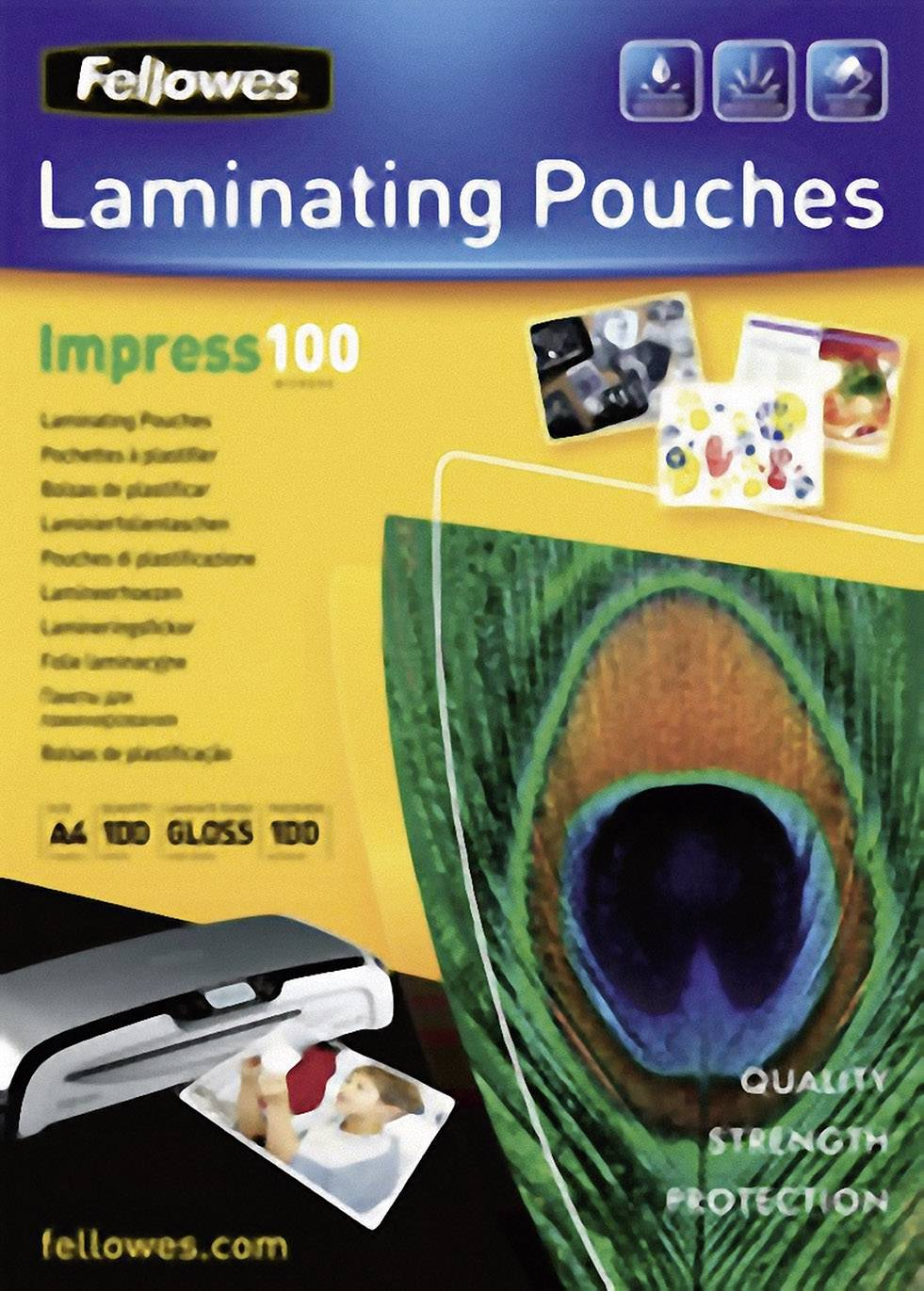 Laminovacie fólie Fellowes DIN A4 100 micron lesklý 100 ks