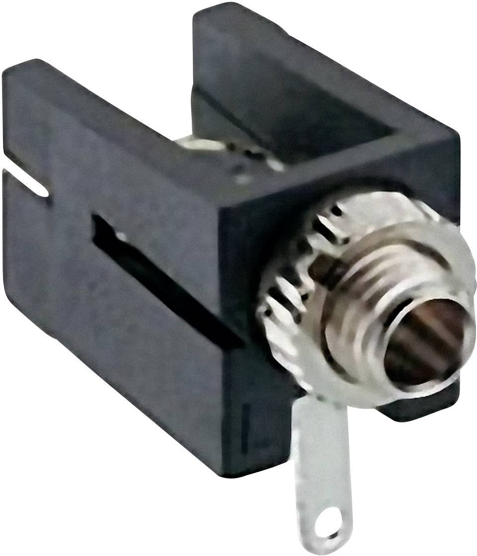 Jack konektor 2.5 mm čiernobiela zásuvka, vstavateľná horizontálna Lumberg 1501 09, pinov 2, čierna, 1 ks