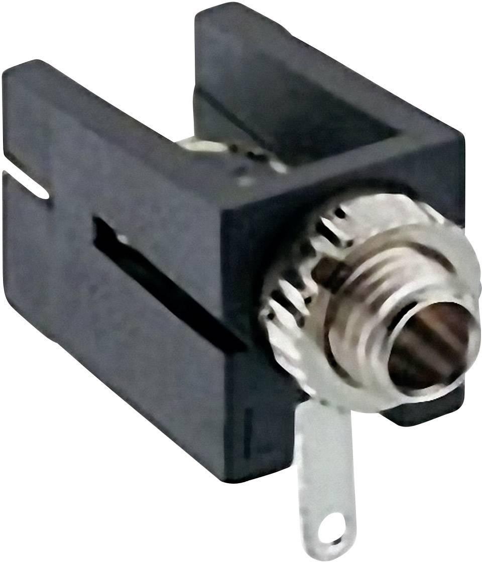Jack konektor 2.5 mm čiernobiela zásuvka, vstavateľná horizontálna Lumberg 1501 09, počet pinov: 2, čierna, 1 ks