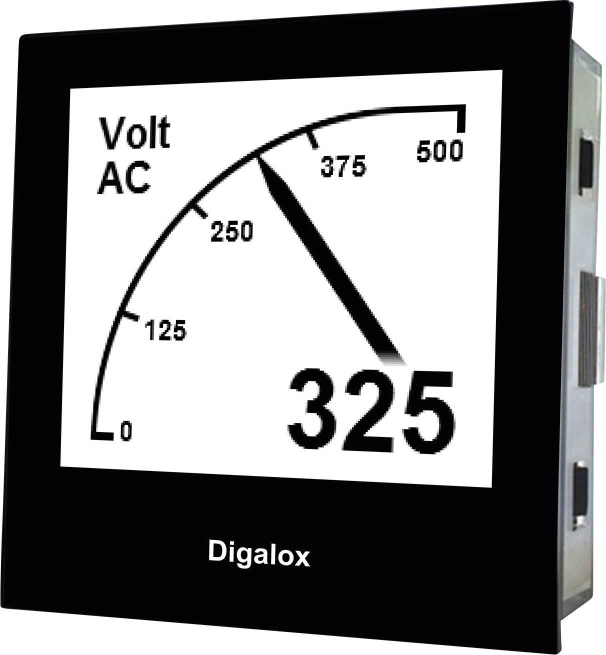 Měřící přístroj na DIN lištu TDE Digalox DPM72-AV, 10 - 30 V AC/DC