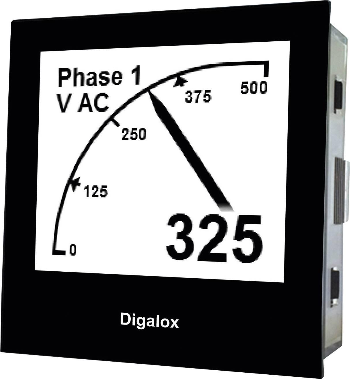 Digitální měřič na DIN lištu s USB TDE Instruments Digalox DPM72-AVP 101398, 10 - 30 V AC/DC