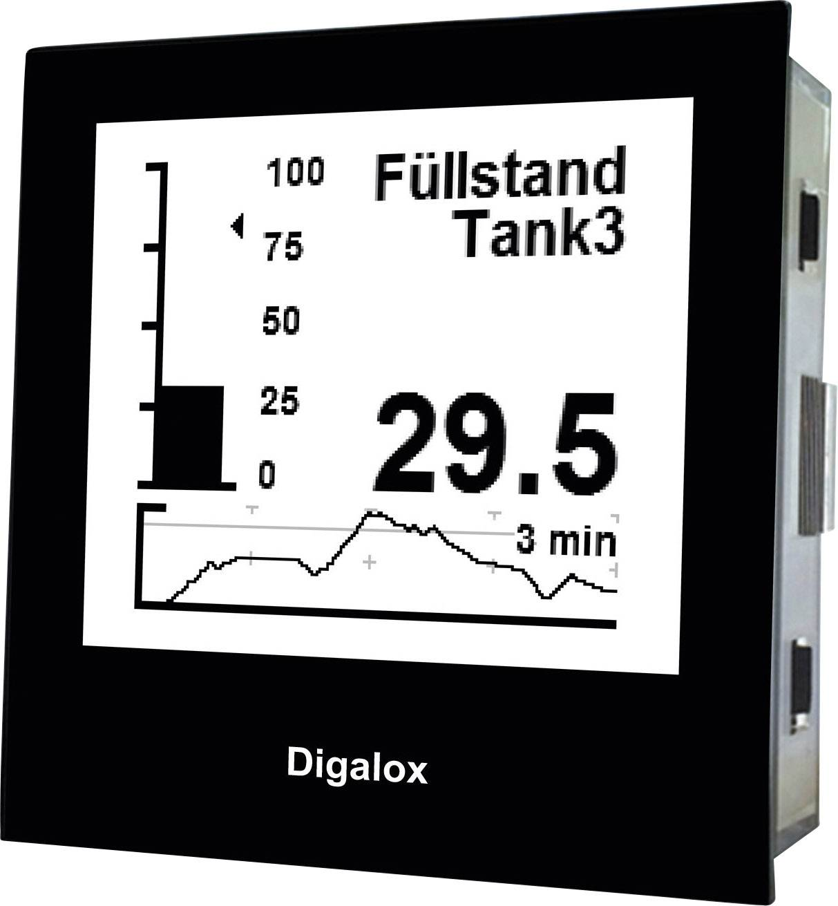 Digitální panelový měřič s USB TDE Instruments Digalox DPM72-PP 101400, 10 až 30 V/AC/DC