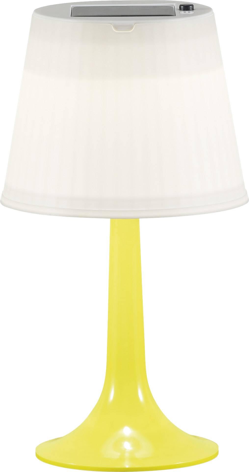 Solární stolní lampa 0.5 W neutrálně bílá Konstsmide Assis Sitra 7109-102 žlutá