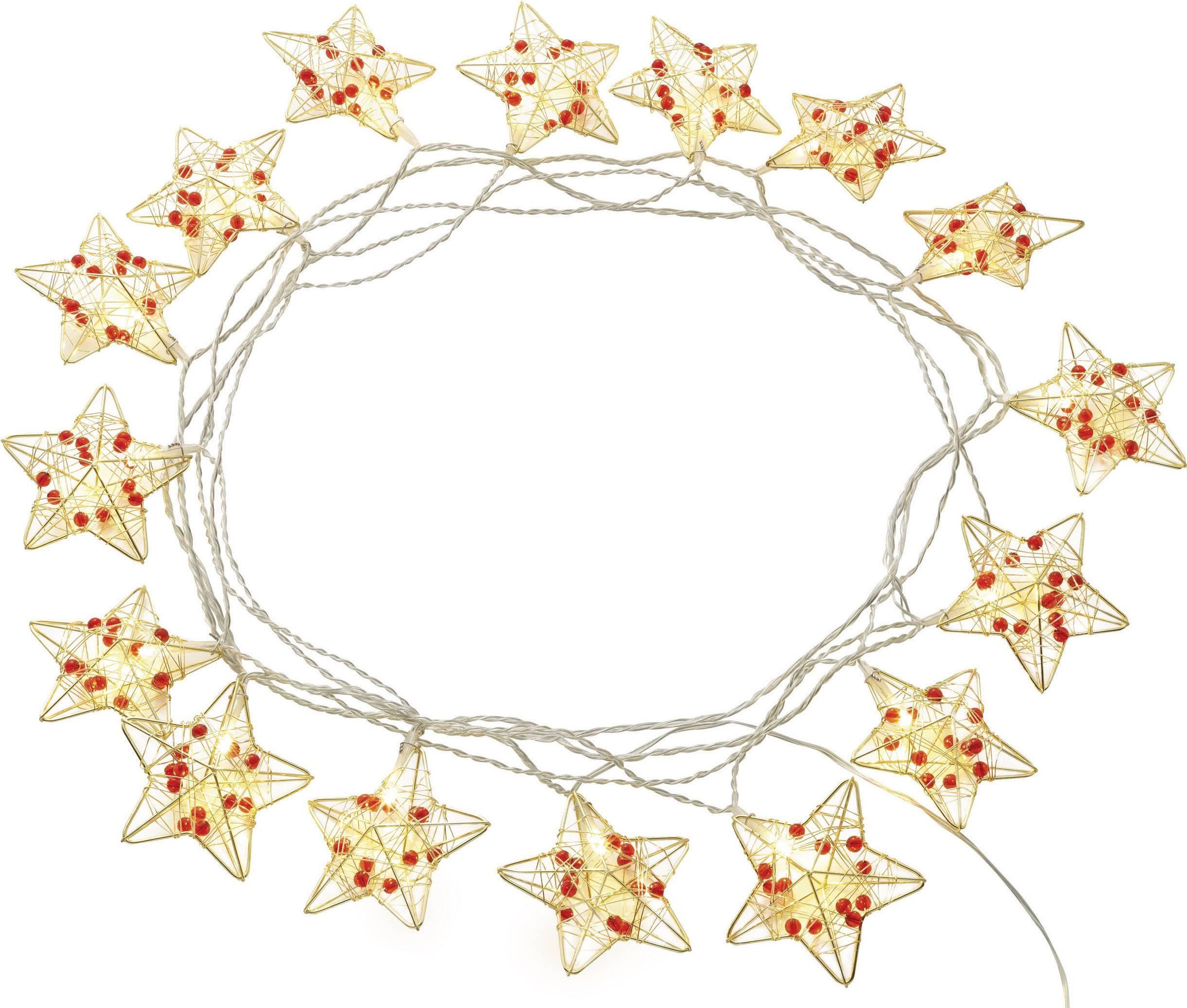 Vnitřní vánoční řetěz Polarlite, 16 LED, 4,5 m, teplá bílá
