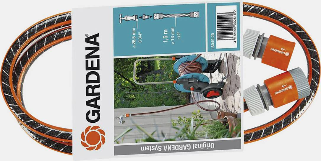"""Připojovací hadice Gardena Comfort FLEX 1/2"""", 18040-20, Ø13 mm, černá/oranžová"""