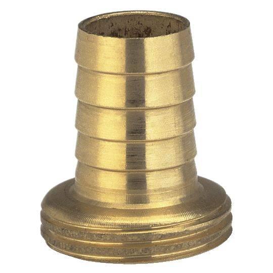 """Jednodílné mosazné šroubení Gardena, závit 26,5 mm (G 3/4), hadice 13 mm (1/2 """")"""
