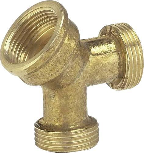 """Mosaz 2cestný rozdělovač 24,2 mm (3/4"""") vnitřní závit, 26,44 mm (3/4"""") vnější závit, 26,44 mm (3/4"""") vnější závit GARDENA 7155-20"""