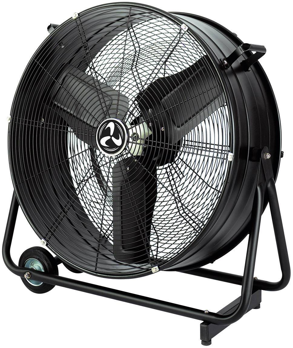 Průmyslový podlahový ventilátor CasaFan DF800 Eco, 123 W, (Ø x v) 92 cm x 96 cm, černá (matná)
