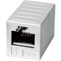 RJ45 sieťový adaptér Telegärtner J00029A0062 CAT 6, [1x RJ45 zásvuka - 1x RJ45 zásvuka], alpská biela