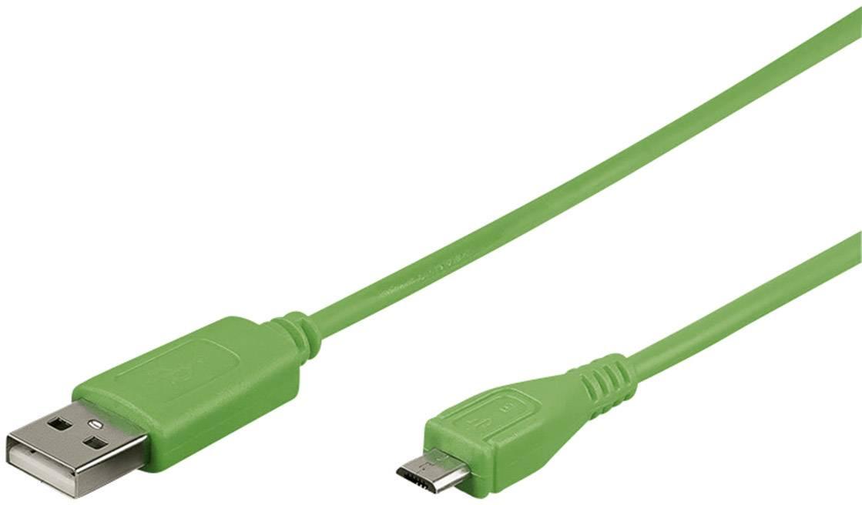 USB 2.0 kabel Goobay 43703 43703, 0.95 m, zelená