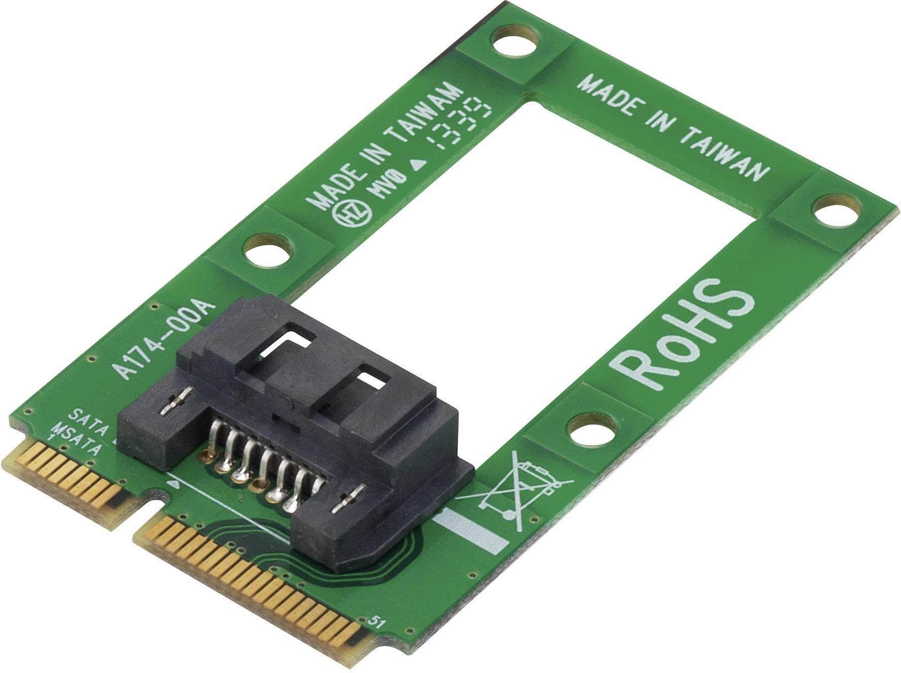 Konvertor rozhrania Renkforce 28554C175 RF-2390052, [1x mini SATA zásuvka - 1x kombinovaná SATA zástrčka 15+7-pólová]