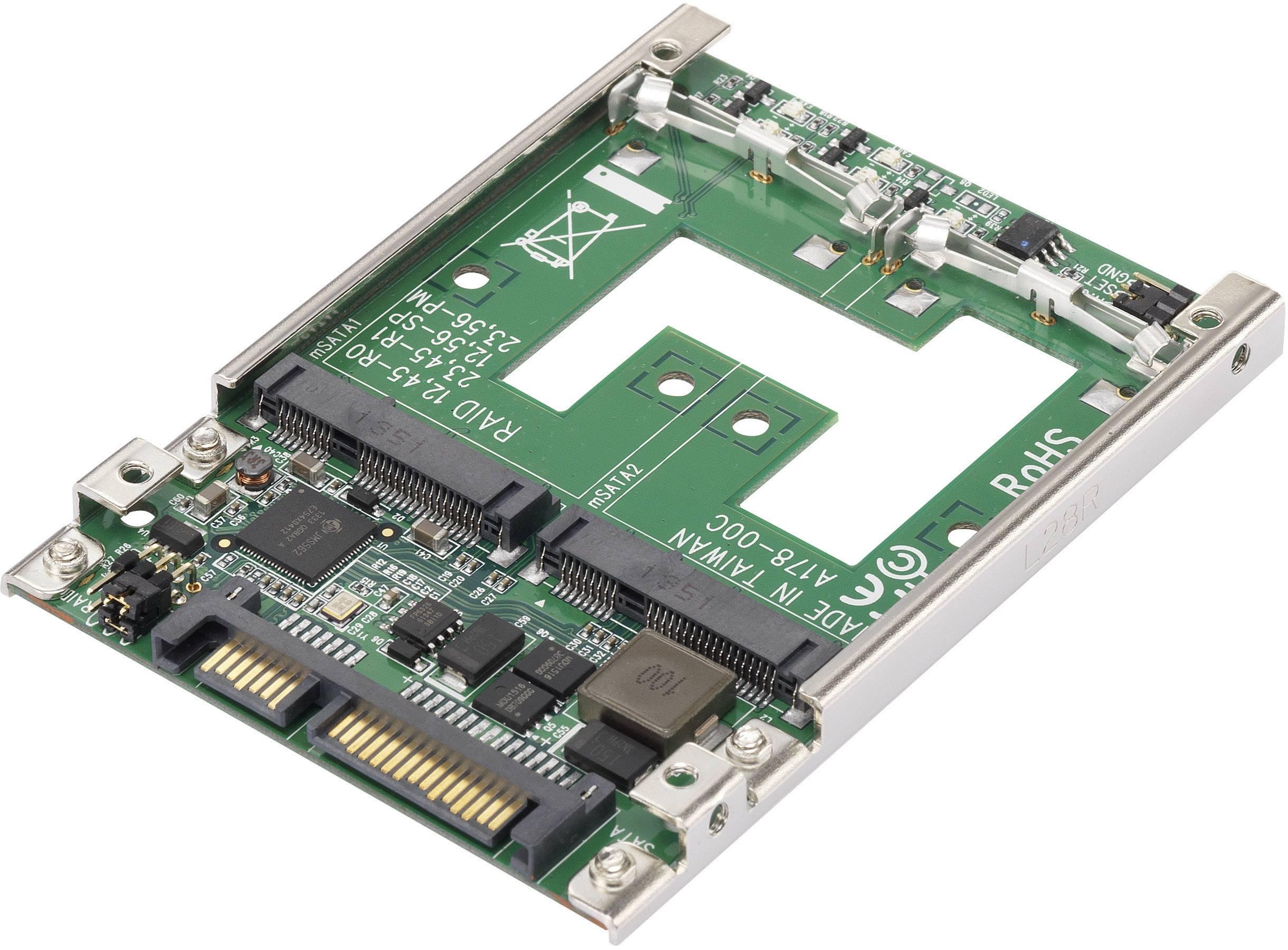 Konvertor rozhrania Renkforce 28554C177 RF-2390056, [1x kombinovaná SATA zástrčka 15+7-pólová - 2x mini SATA zásuvka]