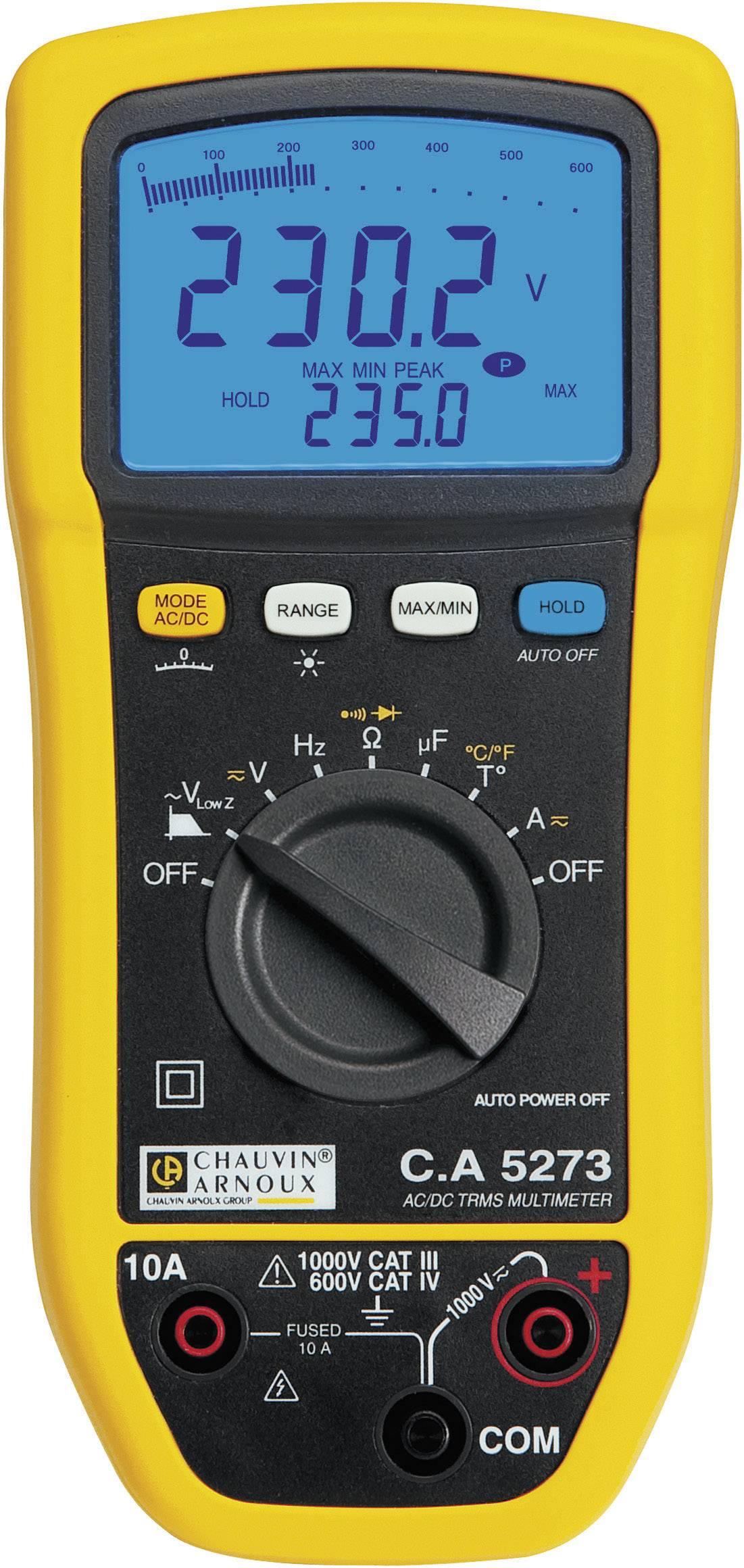 Digitální multimetr Chauvin Arnoux C.A 5273, ochrana proti stříkající vodě (IP54)