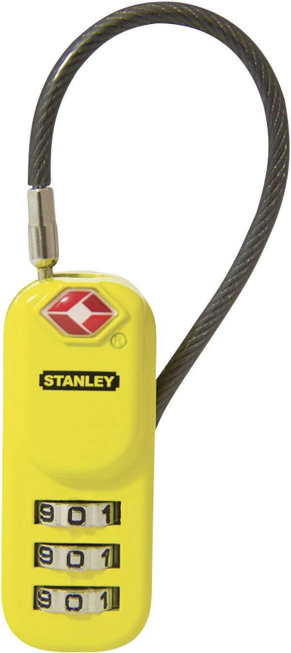 TSA káblový zámok na heslo Stanley Vorhängeschlösser 81161393401, 24 mm, čierna, žltá