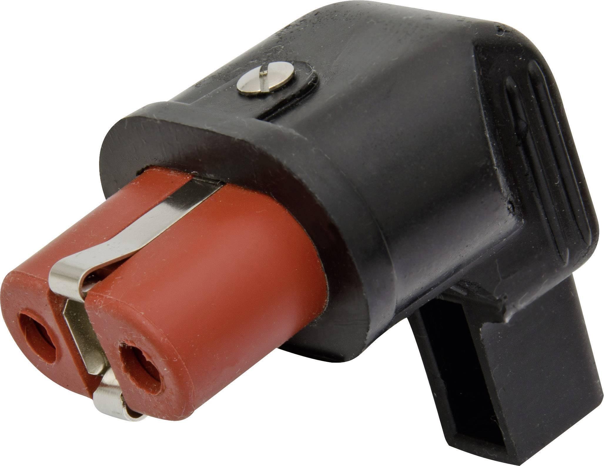 IEC konektor C15/C16 Kalthoff 344007, zásuvka, zahnutá, počet kontaktov: 2 + PE, 25 A, 250 V, čierna, červená, 1 ks