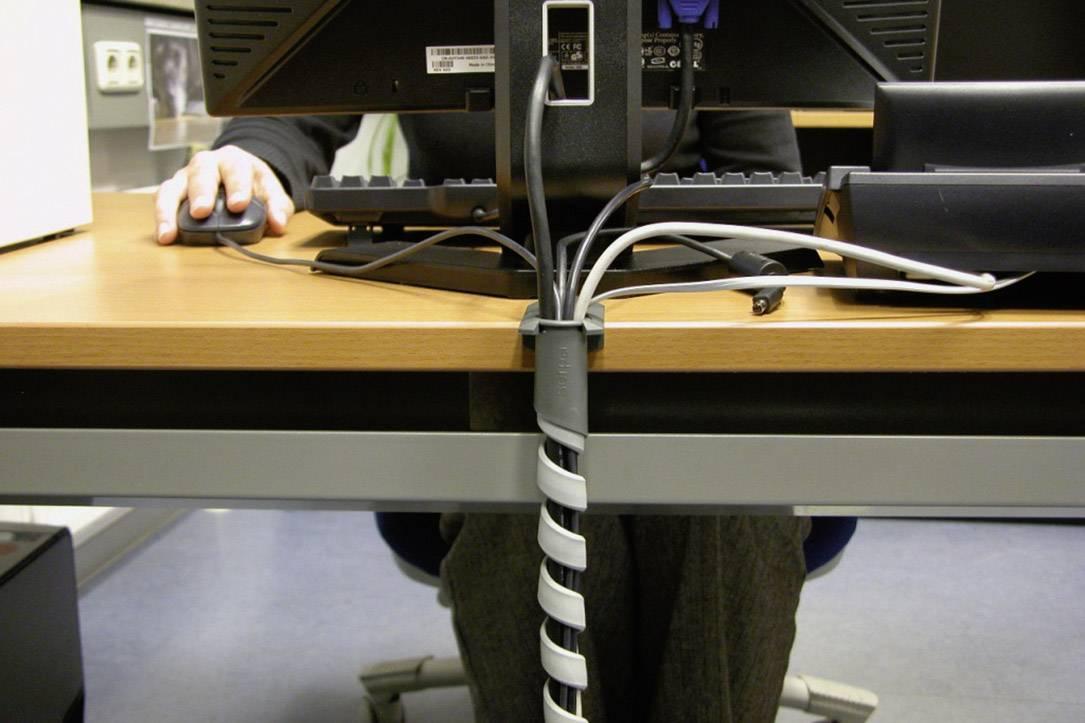 Špirálový káblový oplet Serpa 5.04003.7042, 15 mm (max), 1 sada, svetlosivá