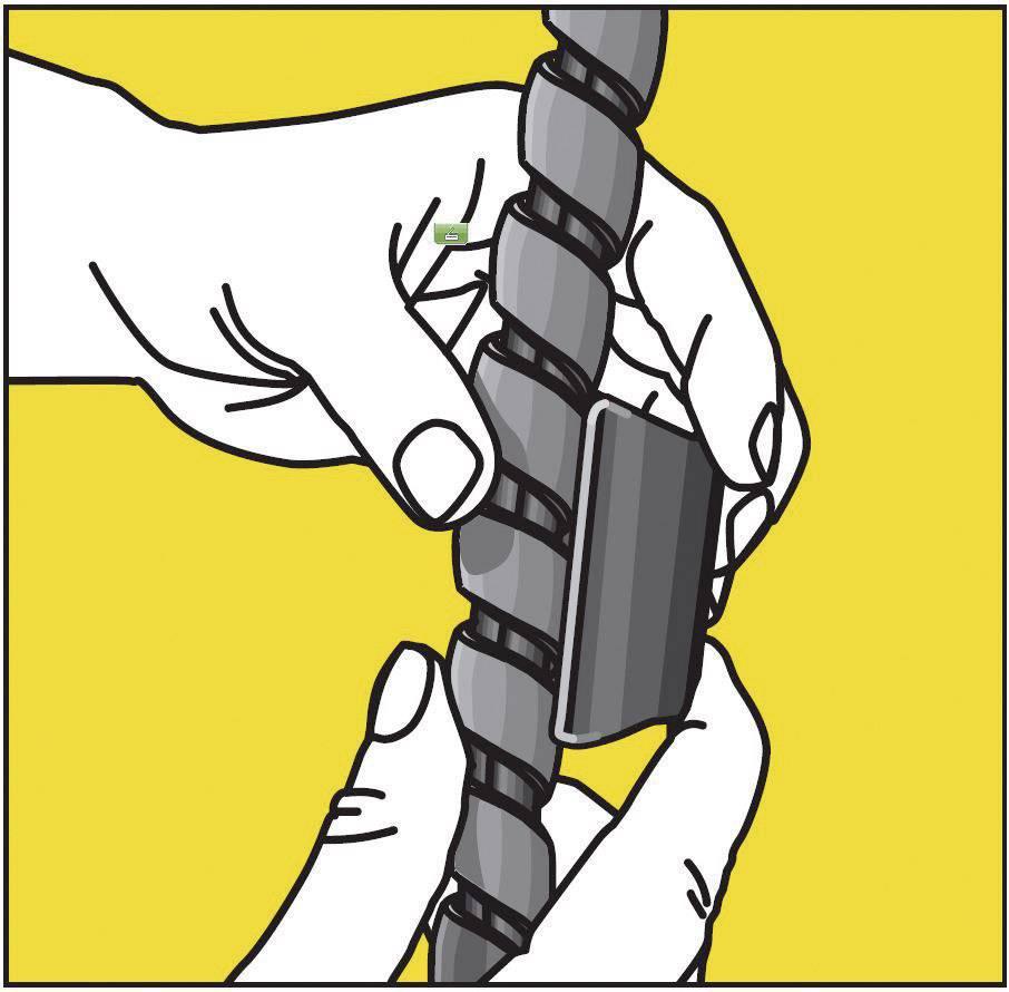 Spirálový kabel Serpa 5.04003.1028, 150 cm, žlutá