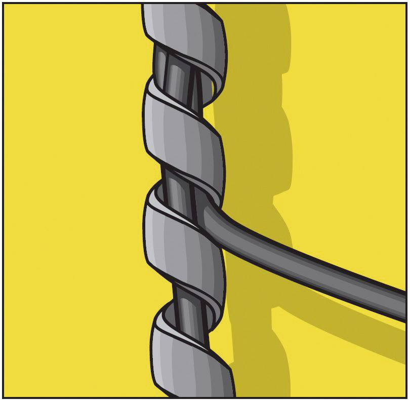 Spirálový kabel Serpa 5.04595.1028, 500 cm, žlutá