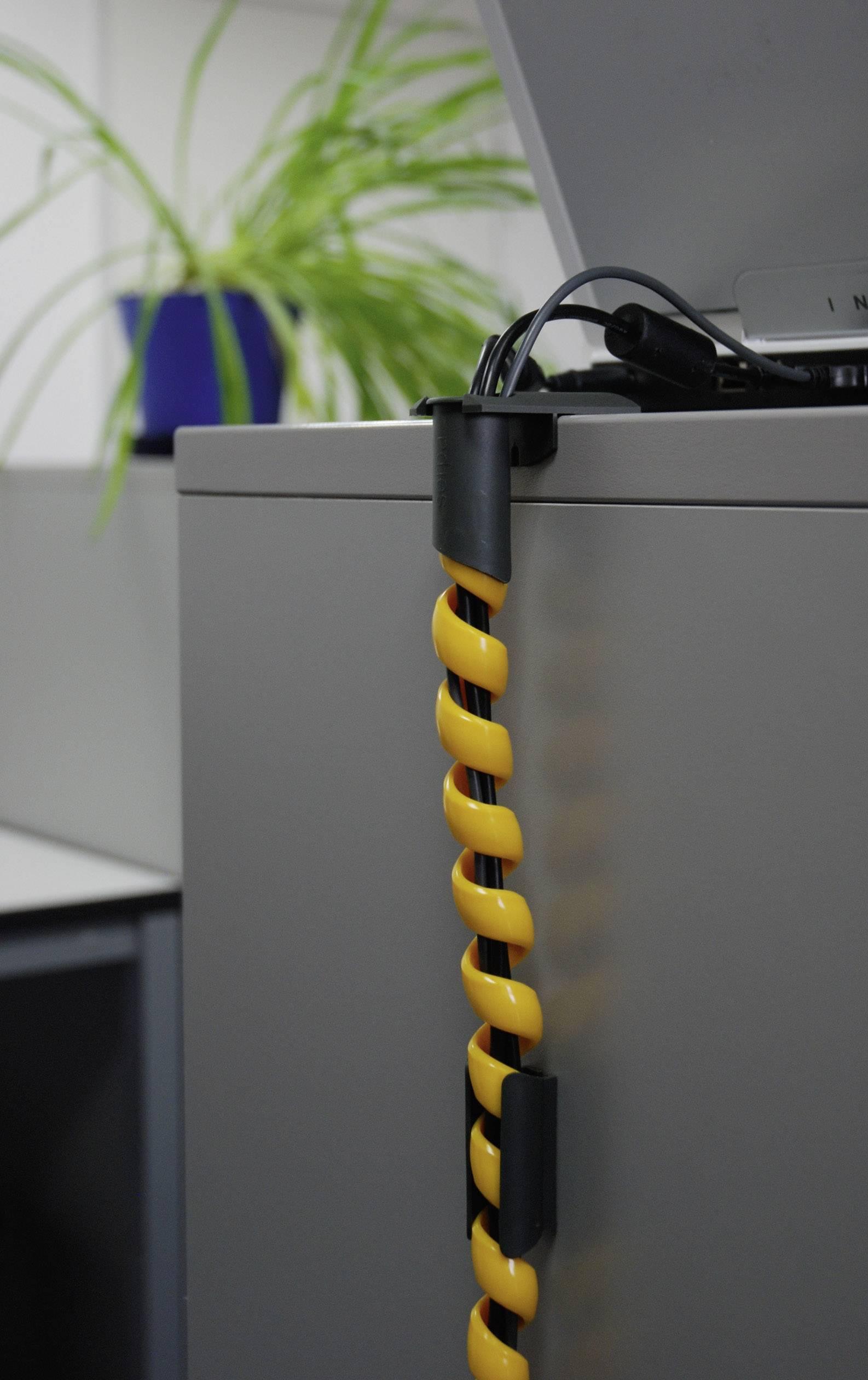 Špirálový káblový oplet Serpa 5.04003.1028, 15 mm (max), 1 sada, žltá